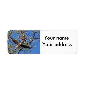 Eagle-Paare mit Ihrer Adresse Rückversand-Adressaufkleber