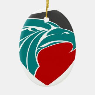 Eaglestärke und -stolz ovales keramik ornament