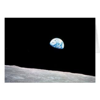 Earthrise: mit Zitat-- Geschossen von Apollo 8 Karte