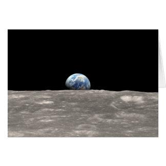 Earthrise und Zitat: Geschossen von Apollo 8 Karte