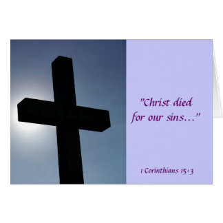 Easter Cross Christ Died For Our Sins II Cards
