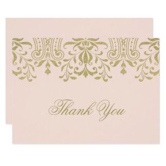 Ebene danken Ihnen GoldVintager Glamour der 8,9 X 12,7 Cm Einladungskarte