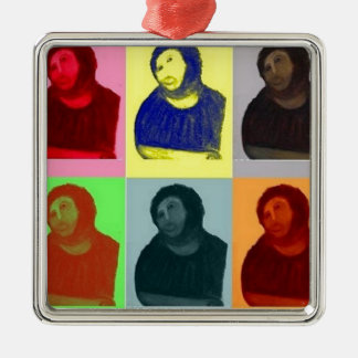 Ecce Homo - Pop-Kunst-Art Silbernes Ornament