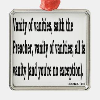 Eccles. 1:2, w2 quadratisches silberfarbenes ornament
