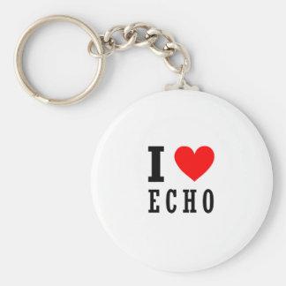 Echo, Alabama Standard Runder Schlüsselanhänger