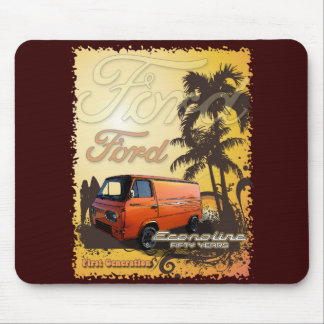 Econoline Van Beach Design Mousepad
