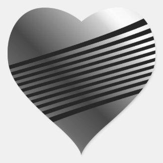 Edelstahl des hohen Grades Herz Sticker