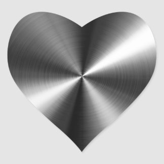Edelstahl Herz Sticker