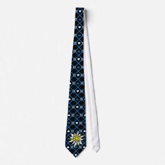 Edelweiss auf Schwarzem Personalisierte Krawatten