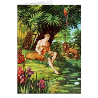 Eden Adam im Garten Karte