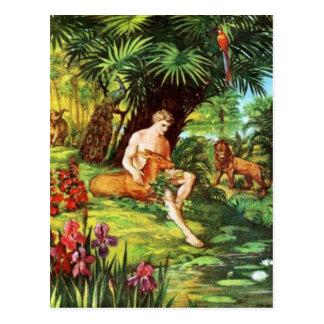 Eden Adam im Garten Postkarte