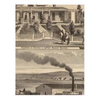 Eden-Landung, Barron Wohnsitz, Lager Postkarte