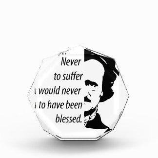 Edgar Allan Poe Acryl Auszeichnung