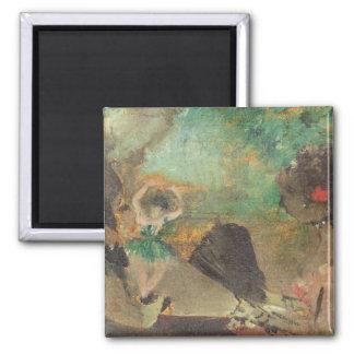 Edgar Degas | das Loge, c.1883 Quadratischer Magnet