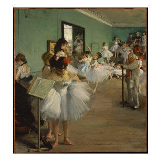 EDGAR DEGAS - die Tanzklasse 1874 Poster