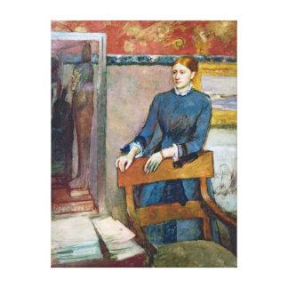 Edgar Degas | Helene Rouart in der Studie ihres Leinwanddrucke
