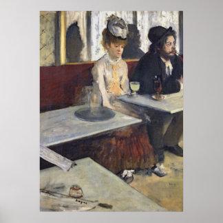 Edgar Degas | in einem Café oder der Wermut Poster