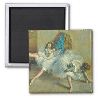 Edgar Degas | vor dem Ballett, 1890-1892 Quadratischer Magnet