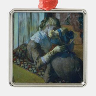 Edgar Degas | zwei Frauen Silbernes Ornament