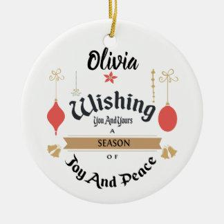 Editable verzauberte Weihnachtsverzierung Keramik Ornament