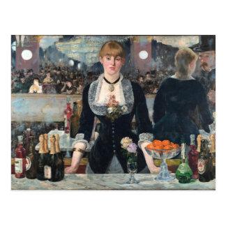 EDOUART MANET - Ein Bar beim Folies-Bergere 1882 Postkarte