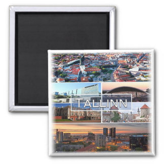 EE * Estland - Tallinn Quadratischer Magnet