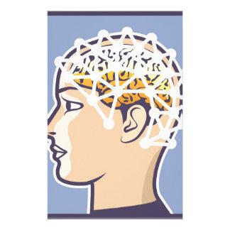 EEG Brainwave-Lesungsvektor Büropapier