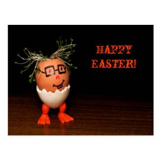 Eggman von Eggmen Reihen-Text-Ostern-Postkarte Postkarte