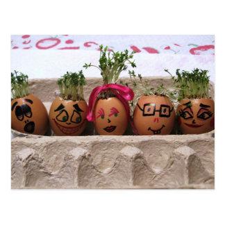 Eggmen Familien-Ostern-Postkarte Postkarte