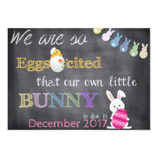 Eggscited Ostern Schwangerschaft decken Mitteilung Karte