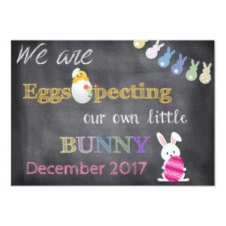 Eggspecting Ostern Schwangerschaft decken Karte