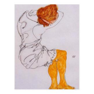 Egon Schiele- das schlafende Mädchen Postkarte