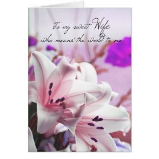 Ehefrau-Geburtstags-Gruß-Karte mit rosa Karte
