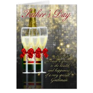 Ehemann - der Vatertags-Karte - Champagne-Toast Karte