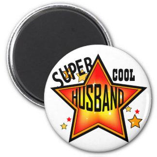 Ehemann-super cooler Stern-lustiger Magnet Runder Magnet 5,1 Cm