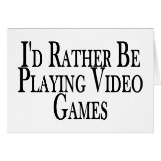 Eher spielt Videospiele Karte