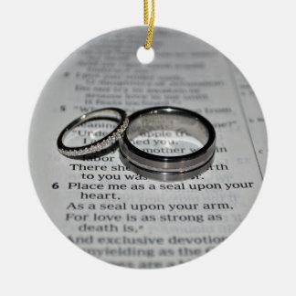 Ehering-Bibel-Vers-Verzierung Keramik Ornament