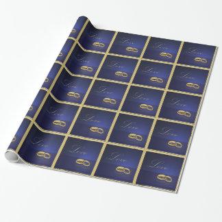 Ehering-Blau-Packpapier Geschenkpapier