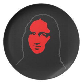Ehrerbietung à Léonardo - Mona Lisa Flacher Teller