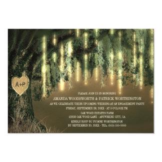 Eichen-Baum-spanisches Moos-Verlobungs-Party 12,7 X 17,8 Cm Einladungskarte