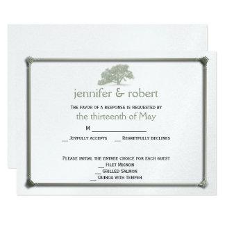 Eichen-Plantagen-Hochzeits-Wartekarte 8,9 X 12,7 Cm Einladungskarte