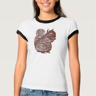 Eichhörnchen-Damen-Wecker-T - Shirt