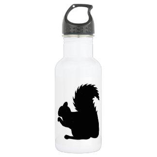 Eichhörnchen-Silhouette Trinkflasche