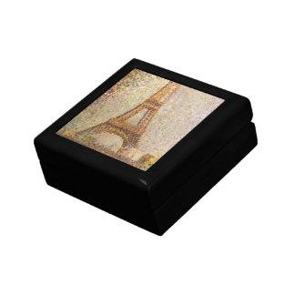 Eiffel-Turm durch Georges Seurat, Vintage feine Erinnerungskiste