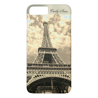 Eiffel-Turm-Paris-Metallname iPhone Fall Vintag iPhone 8 Plus/7 Plus Hülle
