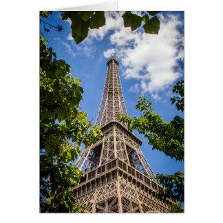 Eiffelturm-Gruß-Karte Karte