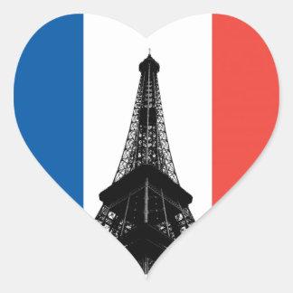 Eiffelturm-Herz-Aufkleber Herz-Aufkleber