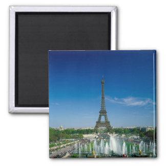 Eiffelturm, Paris, Frankreich Quadratischer Magnet