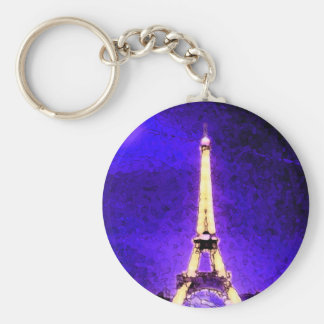 Eiffelturm Standard Runder Schlüsselanhänger