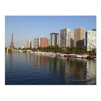 Eiffelturm und die Seine Postkarte